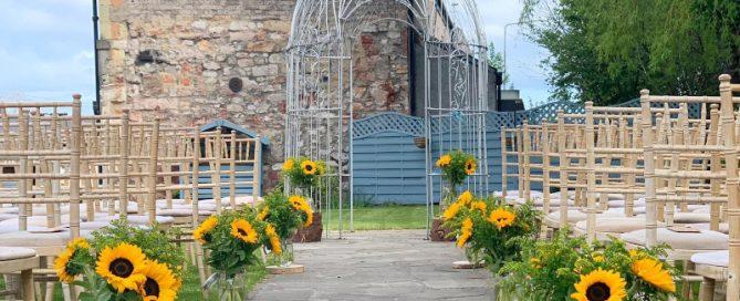 Eskmills Venue Garden Ceremony