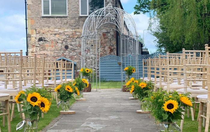 Eskmills Venue Garden Ceremony